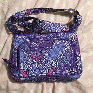 Lilac tapestry purse